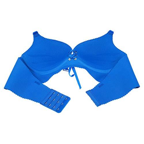 Aivtalk Damen-BH, Push-Up-BH, ohne Bügel, gefüttert, nahtlos, für jeden Tag - Blau - Etikett 32B= 65B - 3