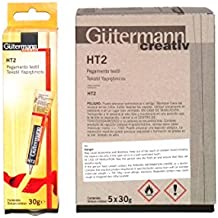 caja de 5 pegamentos gütermann de 30grs cada uno HT2