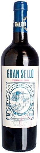 Bodegas Gran Sello - Tempranillo Syrah Barrel Aged Castilla VDT Rotwein halbtrocken 14% Vol. - 0,75l