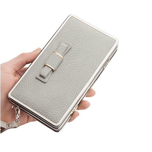 Portafogli da Donna Borsa con Diamante Bowknot Modello, Bonice Multifunzionale [Grande Capacità] Smartphone Wristlet Custodia Case Cover per Samsung Galaxy S8/S8 Plus/S7edge/S7/S6/S6 Edge/S6 Edge Plus Elegant-Cover-34