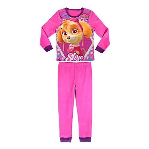 Media wave store 828173 pigiama da bambina con grafica paw patrol skye caldo pile da 3 a 6 anni (3 anni)