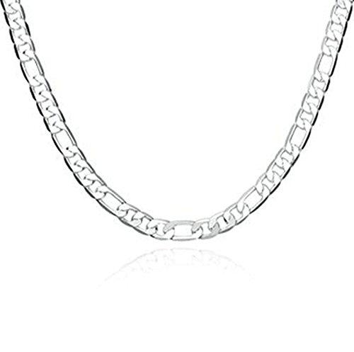 Retro Zwei Licht-insel (amdxd Jewelry Silber vergoldet Anhänger Ketten für Herren Silber einfachen Stil Anhänger)