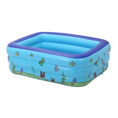 cypressen Verdickungs Aufblasbare Badewanne, Rechteckiger Kinder Badewanne PVC, Faltbare Plastikbadewanne, Eimer (L X B X H: 130x90x48cm) Für Strandpartys Im Freien