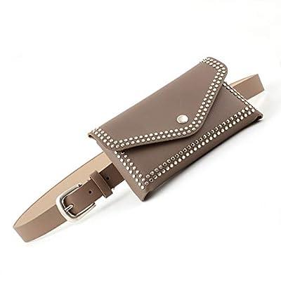 Hand&Star Rivet Belt Bag pour Les Femmes,Sac De Taille Femme, Mini Sacs De Voyage en Cuir PU,Sac Banane,Pochette Téléphone Portable