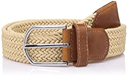 Lino Perros Mens Leather Belt (8903421289738_LMBE00264_95_Beige)