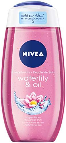 NIVEA Pflegedusche Waterlily & Oil (250 ml), erfrischendes Duschgel mit wertvollen Ölperlen, verwöhnende Dusche mit zartem Wasserlilien-Duft