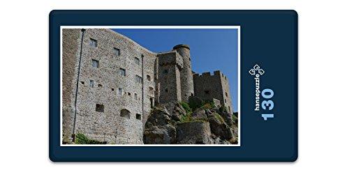 hansepuzzle 20603 Gebäude - Burg auf Jersey, 130 Teile in hochwertiger Kartonbox, Puzzle-Teile in wiederverschliessbarem Beutel. -
