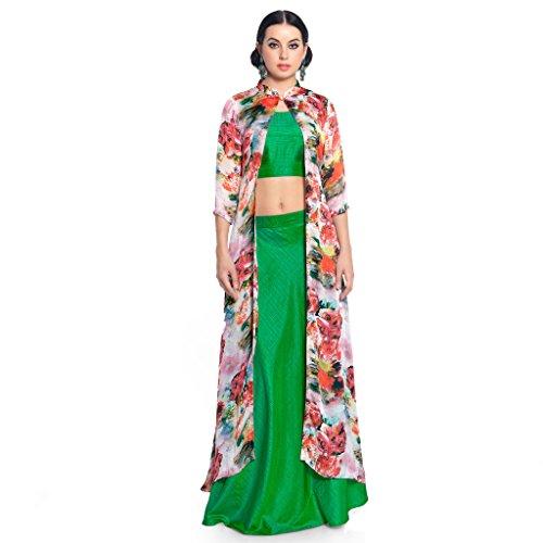 Admyrin-Women-Multi-Colour-Satin-Neo-Silk-Top-with-Lehenga