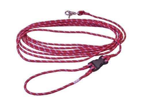 Schleppleine mit ABNEHMBARER Handschlaufe - 10 Meter aus hochwertigem Seil in Rot