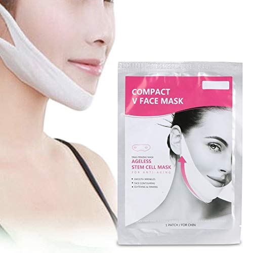 Maschera viso sottile,riduce il mento doppio V linea mento rassodante e maschera idratante,aiuta l'anti rughe antirughe facilitando la pelle del viso