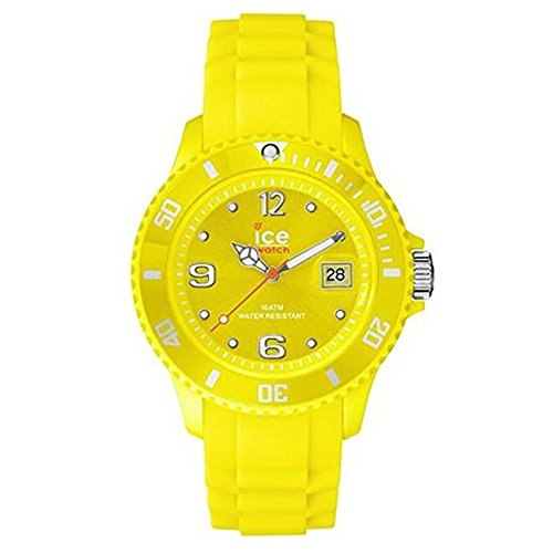 Ice-Watch Ice-Forever Trendy Neon Yellow–Unisex–Unisex Watch–Analogue Quartz–Yellow Dial Yellow Silicone Watch–SI. NYW. U.S.14