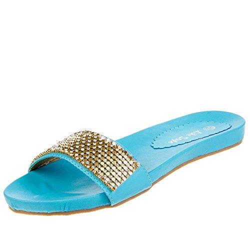 Donna Scarpe Sandali 3657 Blu Da ZXnxB5wgF