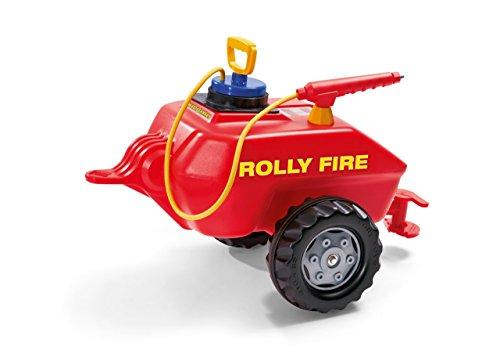 Rolly Toys Feuerwehr Rolly Toys 122967 rollyVacumax Fire | Anhänger / Tanker befüllbar, inkl. Pumpe mit Spritze und Auslaufhahn | Feuerwehr Fassanhänger voll funktionstüchtig | ab 3 Jahren | Farbe rot