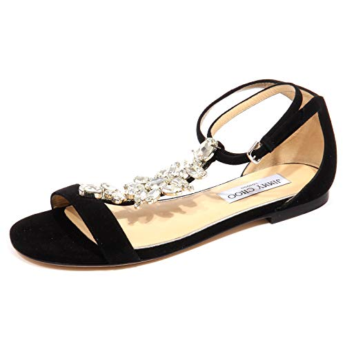 F9450 Sandalo gioiello Donna Black JIMMY CHOO Averie Jeweled Sandal Woman [39]