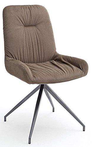 2 x Stuhl 2 Cocktailsessel BV-VERTRIEB Barsessel Küchenstuhl Bezug Cappuccino - (3408)