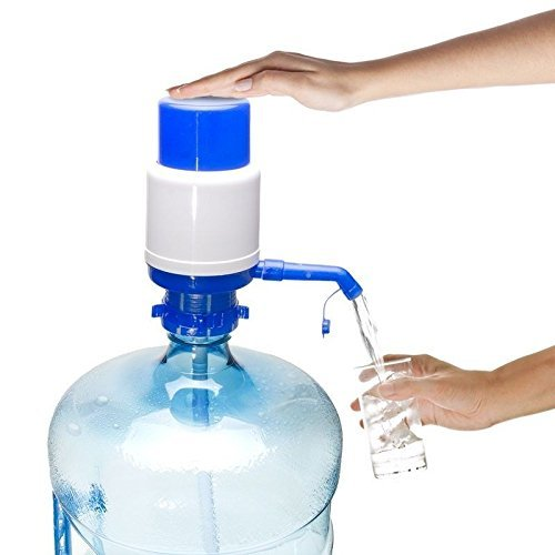 Density Collection Water Bottle Water Dispenser Manual Hand Press Pump Bottled Water Pump Best Quality for 20 liter Bubble top or 20 litre Water Dispenser  available at amazon for Rs.195