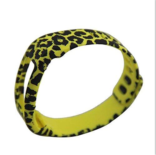 Fashion nuovo stile sostituzione della fascia di polso con chiusura per Garmin Vivofit Wireless Activity Bracciale Sport Wristband Garmin Vivofit Braccialetto Sport Braccio Band fascia da braccio small, Small Leopard