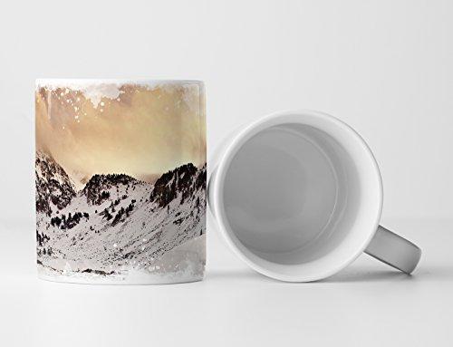 4150psp3kAL Tassen mit Schnee-Motiv