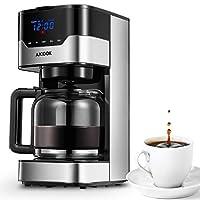 Macchina da caffè programmabile automatica con timer, che consente di preparare la macchina da caffè prima di svegliarsi. I multi-ugelli spruzzano uniformemente l'acqua sulla polvere di caffè, assicurando la completa saturazione del caffè e dell'arom...