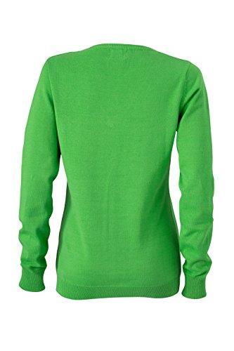 James & Nicholson Pull col en V pour femme vert