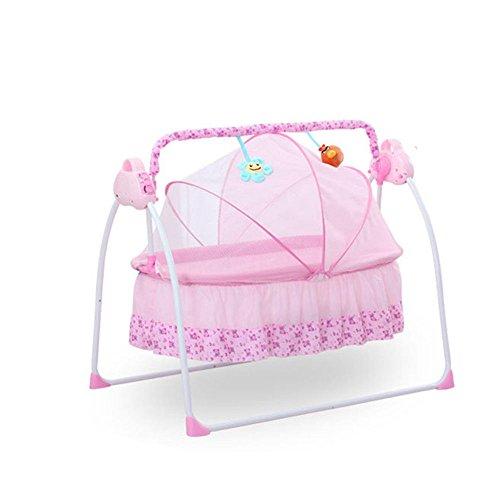 SHIOUCY 3 Farbe Babybett elektrische Baby Schaukel Baby Cradle Rocker Musik Timer Babywippen & -schaukeln (Rosa)