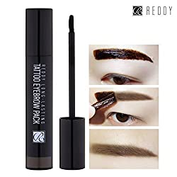 [REDDY] Long Lasting Tattoo Eyebrow Pack 10g, Peel-Off 7 Days Eyebrow Tint Gel, Made in Korea (Dark Brown) by Reddy