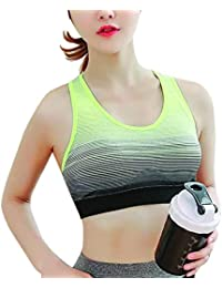 cf44777e5994f Ritu-Creation Women s Padded Full Coverage Racer Back Sports Bra with  Removable Soft Cups for
