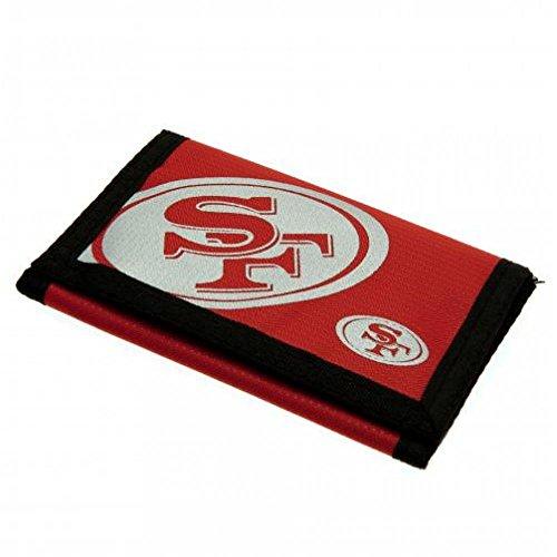 San Francisco 49ers oficial fútbol regalo Nylon cartera-una
