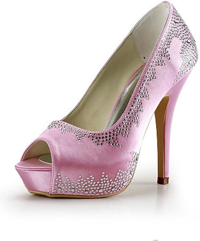 GGX/ Zapatos de boda-Tacones-Tacones / Punta Abierta-Boda / Vestido / Fiesta y Noche-Azul / Rojo / Blanco / Beige-Mujer...