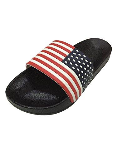 42df7ed82a5484 Omen Crocs American Flag Logo Stylish Comfort Slippers   Slide ...