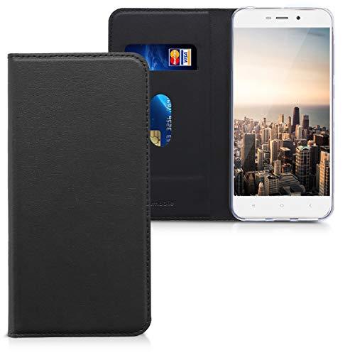 kwmobile Xiaomi Redmi 4A Hülle - Kunstleder Handy Schutzhülle - Flip Cover Case für Xiaomi Redmi 4A