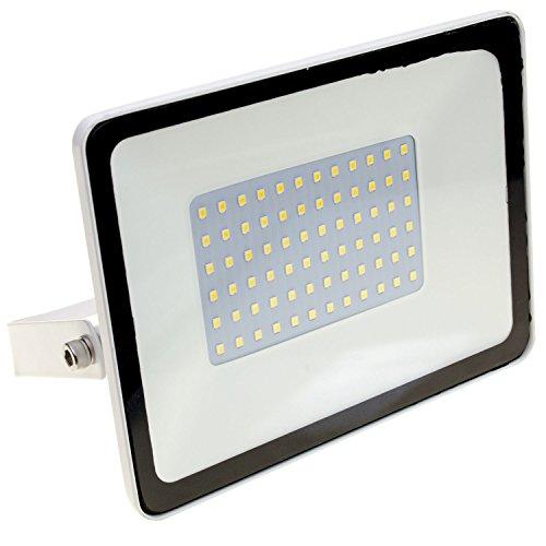 Taloya Magician Weiß LED Fluter, Edelstahl, 30 W, Tageslichtweiß, 30W