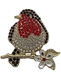 Brooch Boutique Silver Plated Crystal and AB Crystal Pram Brooch Baby's Pram Carriage