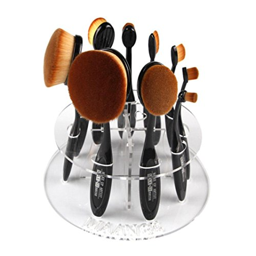 Make-up Pinsel Halter 10 Loch Oval Trocknung Rack Veranstalter Kosmetik Regal Tool Tefamore
