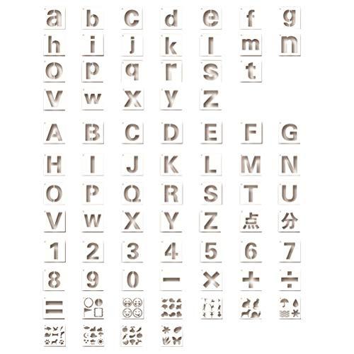 SUPVOX 80 STÜCKE Brief Schablonen Alphabet Schablonen Große Schablonen Malerei Schablonen Malerei Scrapbooking Album Karte DIY Handwerk (Briefe Alphabet Große)