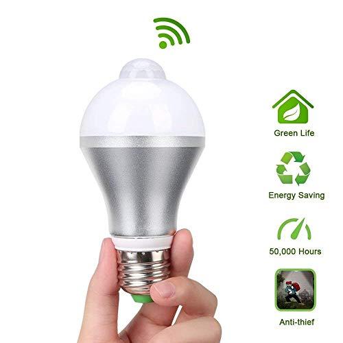 flintronic® PIR Bewegungssensor Birne Glühbirne Lampe Leuchtmittel, mit 9W E27 LED Bewegungsmelder, für Treppen Haustür Garten Garage [Energieklasse A++]