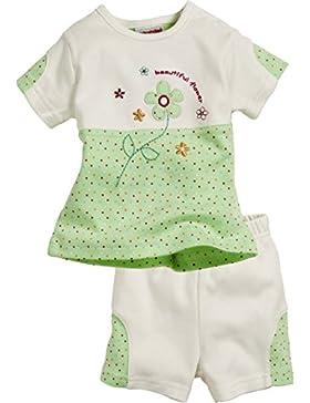 Schnizler Mädchen Bekleidungsset Flower 2-teilig mit T-shirt und Bermuda Shorts, Oeko-tex Standard 100