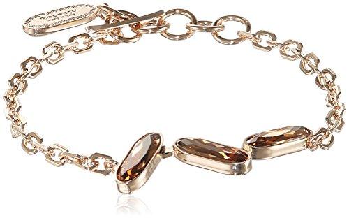 Rebecca Damen-Armband Bahamas Vergoldet teilvergoldet Kristall orange 17.0 cm - BBABOC07