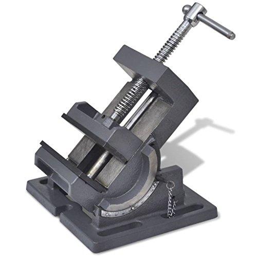 Vislone Maschinenschraubstock Handbetrieben | 0°- 90° Kippbar | Gusseisen | Backenbreite: 105 mm | Schwarz