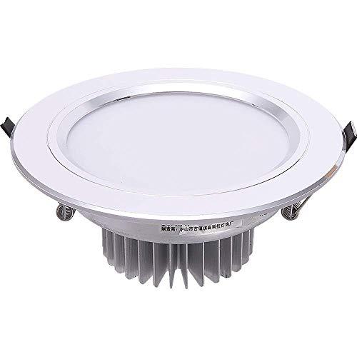 Srr6urt5u Einfach zu montieren Silber Deckenleuchten LED Einbauleuchte Kreative Runde Bekleidungsgeschäft Fenster Embedded Einbau for Handelshaupt Beleuchtung Heim Panel-Deckenleuchten Modern elegant