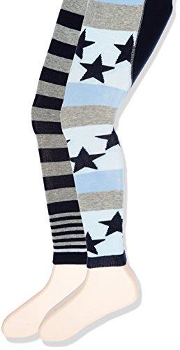 Sterntaler Baby - Jungen Strumpfhose Leggins DP Sterne/Ringel 8661720, Gr. 74, Blau (Marine 300)