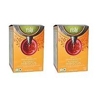 Rishi Tea Organic Herbal Tea Caffeine-Free Blueberry Hibiscus -- 15 Tea Bags (Pack of 2)