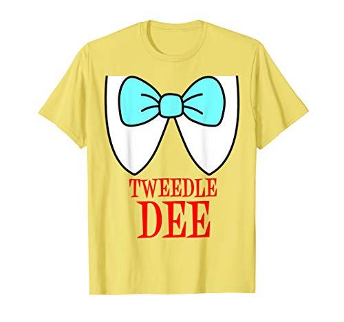 Tweedle Dee Kostüm T-Shirt (Tweedles Kostüm)
