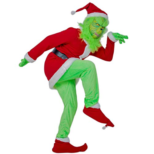 Der Grinch Outfit - DealTrade Grinch Kostüm Cosplay Rot Outfit