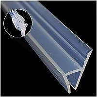 Sello de mampara de ducha, 3 m de largo, para puertas de duchas, flexible, para cristal de 4-6 mm a 8 mm, de silicona resistente a la intemperie