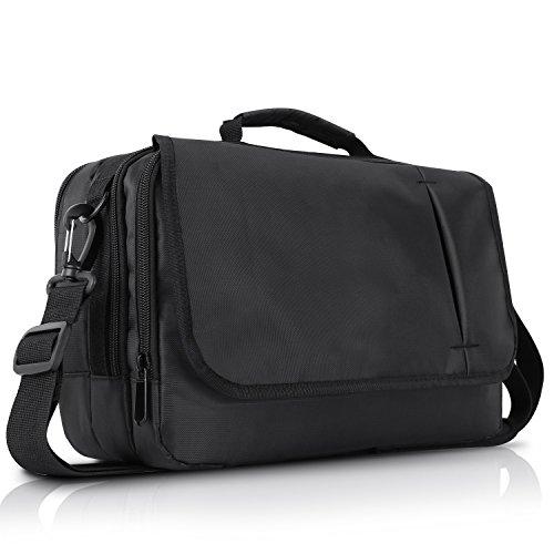 NAVISKAUTO 10 Zoll Schultertasche Henkeltasche Tasche für Dual Tragbare DVD Player Monitore Tablets Schwarz MB002B -