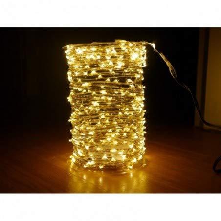 Guirlande cascade intérieur 200 LED - 150 cm - Blanc chaud