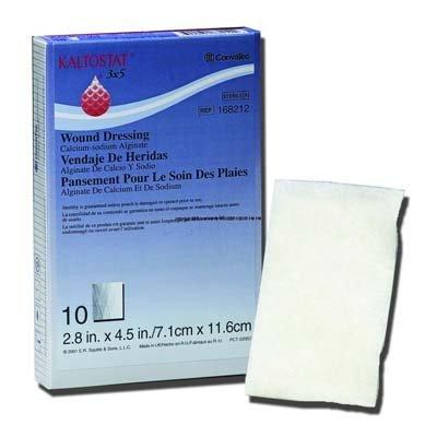 KALTOSTAT Calcium Sodium Alginate Dressing 4 x 8 by ConvaTec (Convatec Dressing Kaltostat Alginate)