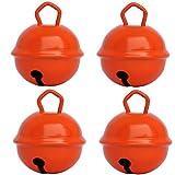 Gros Grelots Musicaux Couleurs Orange (4 clochettes 25mm) Existe en Petits 15mm et Géants 35mm Pour Enfants Bébé: Montessori Instruments Noël Anniversaire Chat Chien Décorations Loisirs Créatifs