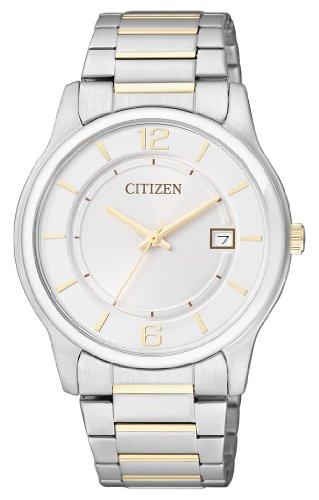 Citizen  BD0024-53A – Reloj de cuarzo para hombre, con correa de acero inoxidable chapado, color multicolor